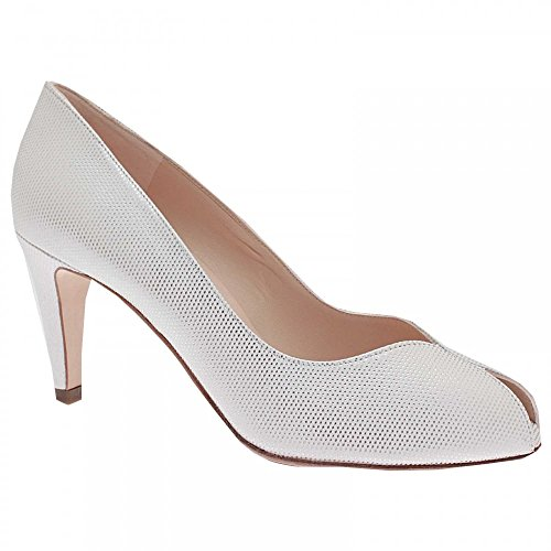 Peter Kaiser High Heel Peep Toe Court Shoe White