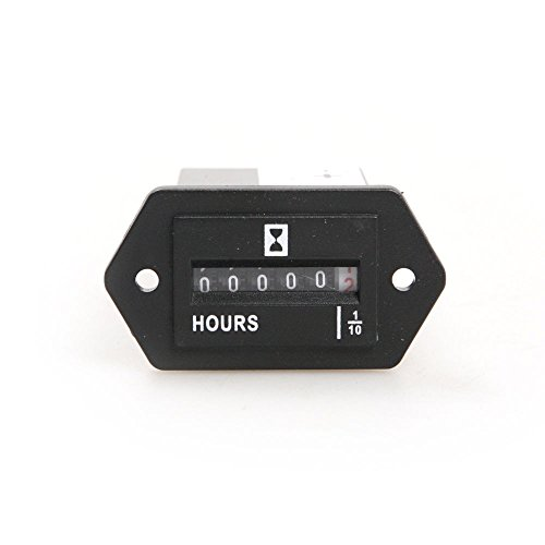 winwill DC10–80V 12V 24V Generator contatore sigillato Hour Meter Hourmeter rettangolo 3W