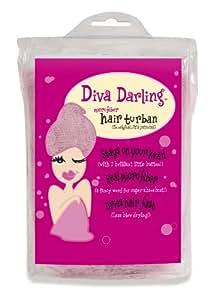 Diva Darling Turban en microfibres Rose