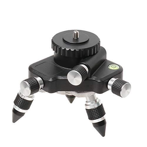 dapter, 360° drehbarer Metallfuß für Stativanschluss für Kreuzlinienlaser, 1/4″ Gewindehalterung und horizontale Blase, Feinjustier-Schwenkbasis AT2 ()