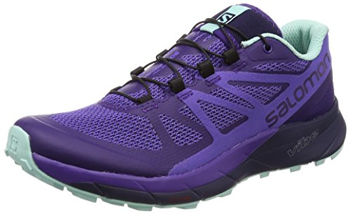 Salomon Sense Ride Women's Scarpe da Trail Corsa - AW17 Parachute / Purple Opu