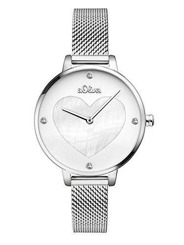 S.Oliver Damen Analog Quarz Armbanduhr SO-3472-MQ