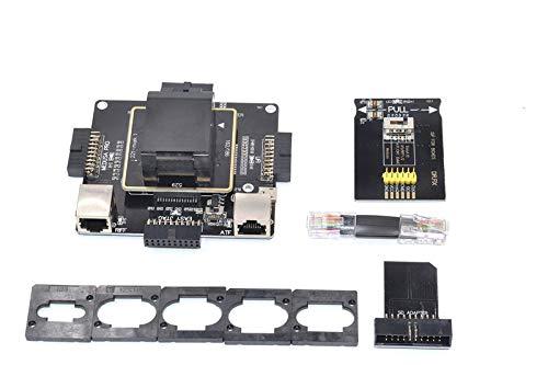 Ochoos DR Fix 6in1 eMMC Tool Adapter Repair for eMMC153/169,  eMCP221,eMCP162/186, eMCP529 Work with UFI Box/Easy-Jtag/Riff 2 /eMMC Pro -  (Color: Black