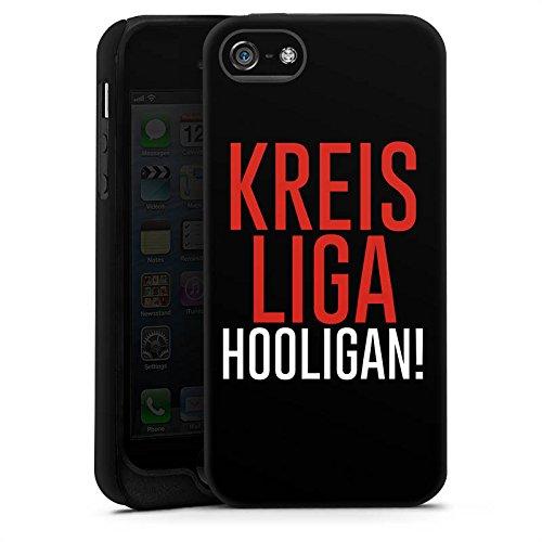 Apple iPhone X Silikon Hülle Case Schutzhülle Kreisliga Hooligan Fußball Tough Case matt