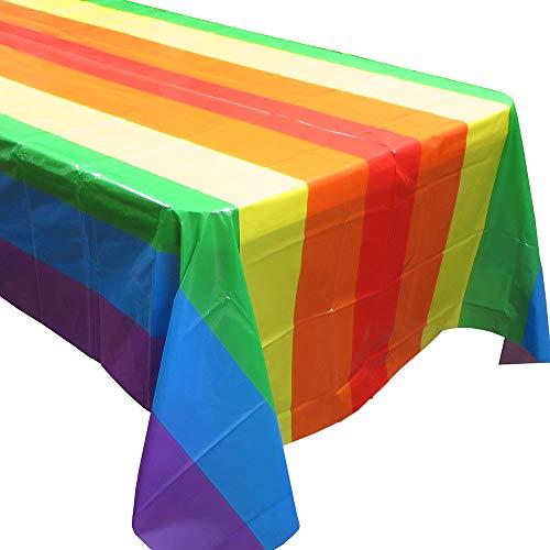 Blau Obstgärten Rainbow Party tablecovers (2), Rainbow Geburtstage, Rainbow Party Supplies und Dekorationen