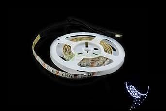 SUNTEC Led Strip Light 5050 Waterproof 2M 78.7in 6.5ft Cool White 5V+USB Port Cable Gerneric U2C