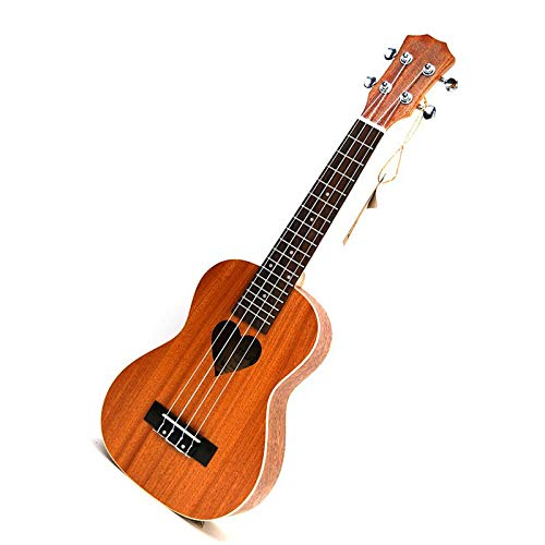 LFDYKLL 21-Zoll-Ukulele kleine 4-saitige Gitarre Hawaii elektrische Ukulele Akustische Gitarre liebevolles Herzmuster Cavaquinho Gitar