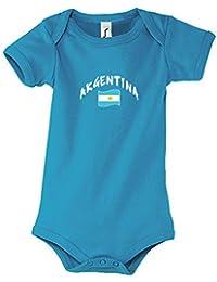 Supportershop – Body para bebé, diseño de Equipo de fútbol de Argentina, Color Azul