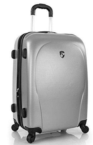 ... 50% SALE ... PREMIUM DESIGNER Hartschalen Koffer - Heys Core XCase Spinner Taupe - Trolley mit 4 Rollen Medium Silber