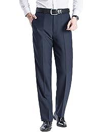 Pantalón de traje de hombre, Regular Fit, perfecto para Negocio/Ceremonia/Boda/Ocasiones Formales, Rayas diferentes para elegir
