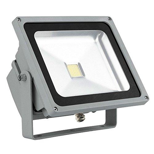 45w Flut (45 Watt LED Außen Bereich Wand Lampe Grundstück ALU Fluter Schein Werfer Baustrahler Eglo 94428)