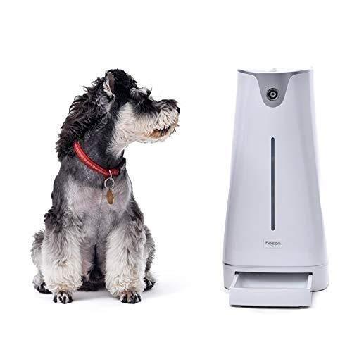 LJ Automatischer Futterautomat Elektronischer Futterautomat Smart Feeder Ferngesteuert per Handy Glückliche Haustiere -