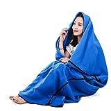 Outdoor-Reisen, Fleece-Schlafsack, Camping Adult Multi-Funktion, keine Lint, kein Verblassen, weichen und bequemen Schlafsack,Blue