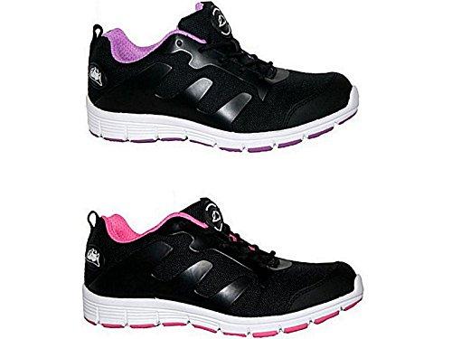 Groundwork Gr95, Chaussures de Sécurité Mixte Adulte Multicolore - Noir/rose