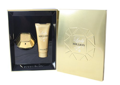 Paco Rabanne Lady Million EDP Spray 50 ml and Sensual Body Lotion 100 ml