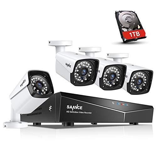 SANNCE XPoE Kit 4 Cámaras Vigilancia Seguridad 1080P
