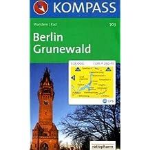 Berlin - Grunewald: Wanderkarte mit Radrouten. GPS-geeignet. 1:25000
