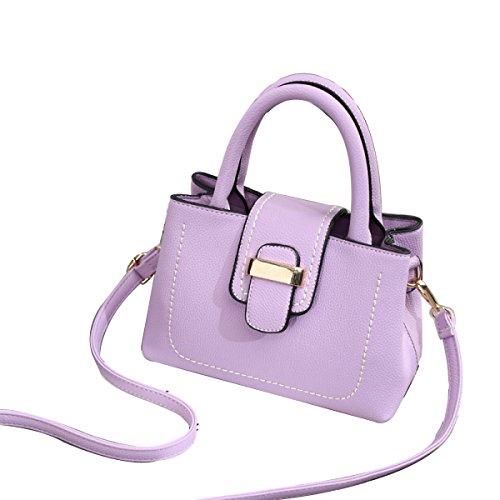 Sacchetto Del Messaggero Della Spalla Di Modo Del Retro Sacchetto Delle Donne Nuovo Purple