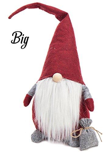 Weihnachten SCHWEDISCH Nisse Gnome Decor-Weihnachtsschmuck Geschenke Holiday Home Tisch Dekoration, Samt, dunkelrot, 55,9 cm (22 (Cola Coca Kostüme Kinder Für)