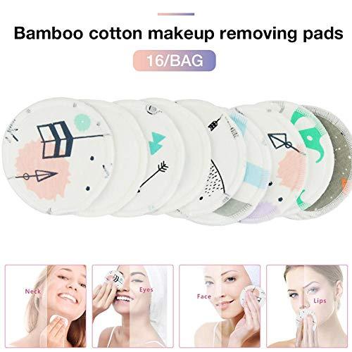Benignpoet 16 toallitas desmaquillantes bambú algodón