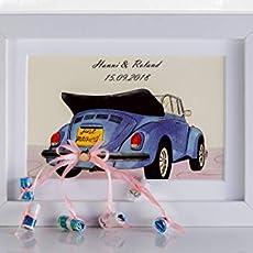 Personalisierbares Hochzeitsgeschenk Auto Im Bilderrahmen
