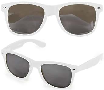 DIE ORIGINAL NERD CEAR® Club Sonnenbrille mit dunklen Gläsern 100% Original weiß