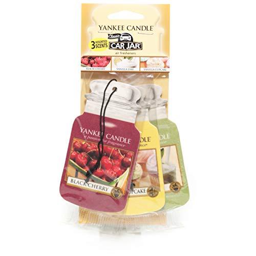 Yankee Candle 1159969E Deodoranti per Auto, Auto Vaso Variety Pacchetto de 3, Afternoon Picnic