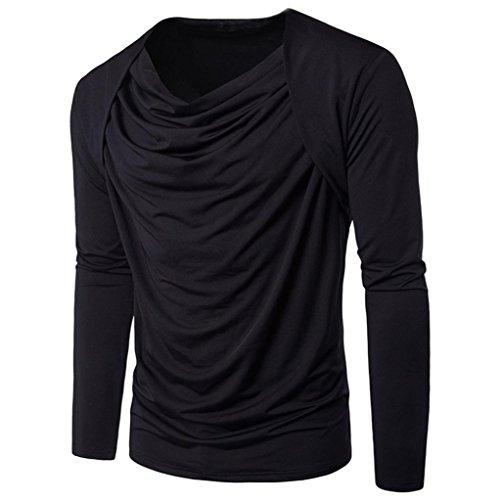 Baumwolle Zugeschnitten Bluse (ITISME TOPS Herren Mode PersöNlichkeit MäNner Baumwolle Casual Slim LangäRmelige Shirt Top Bluse Preisreduzierung Zeitlich Begrenzten Preisreduktion)