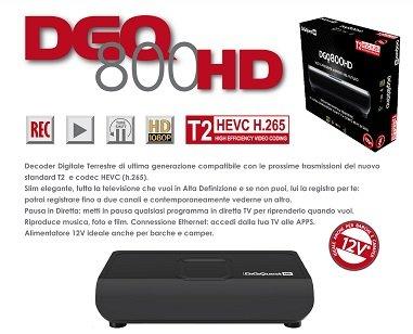 DIGIQUEST dgq800HD Wired Black Decoder–Decoders (Black, Wired)