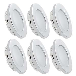 Dream Lighting Faretti LED Incasso Bianco Caldo 3000K,12volt Sotto L'apparecchio Dell'armadio, Accessori per Camper