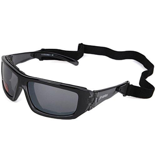 SMALL BASIC Styler Sportbrille JC-Optics Sonnenbrille crystal black