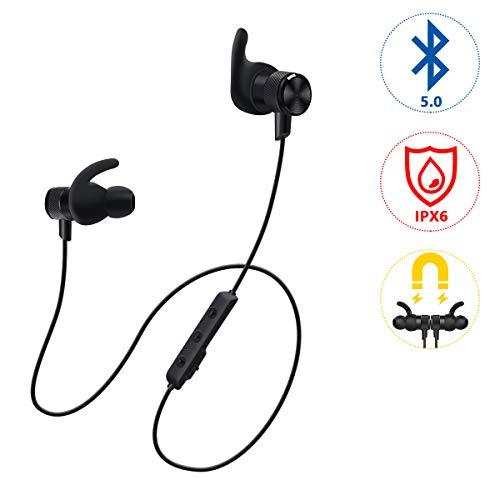 Bluetooth 5.0 Kopfhörer, Voksun CVC 6.0 Noise Cancelling In Ear kabellos Kopfhörer, HD Stereo Sport Magnetische Headset mit Fantastischem Sound für iPhone, iPad, Huawei, HTC und Android - Bluetooth-sound-cancelling