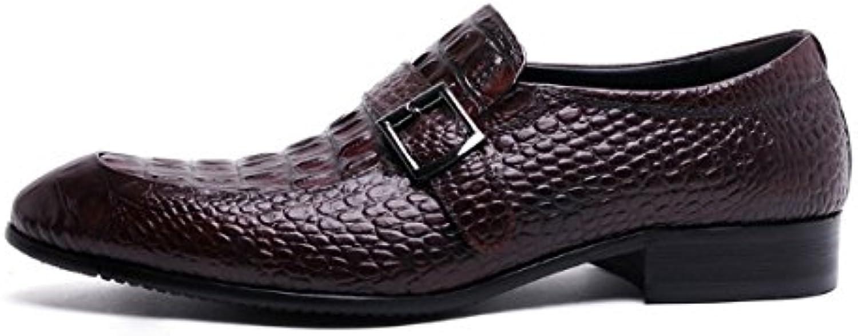 NIUMJ Primavera Y Otoño Zapatos De Tendencia Zapatos De Hebilla Niebla Zapatos De Estilo Británico Personalidad