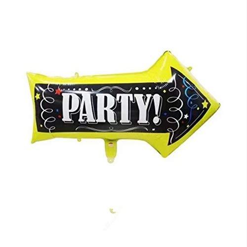 Partei Indikator Folie Ballons Pfeil Straße Helium Ballons Geburtstag Party Dekorationen Hochzeit Dekorationen Party Supplies ()