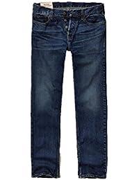 Hollister New Classic - Pantalones Vaqueros Rectos para Hombre, Color Azul, 26 x 30