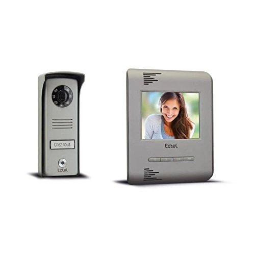 Extel 720214 Luka Videosprechanlage mit Farbdisplay, 2 Leitungen, Monitor mit 1/4 Zoll - 10 cm