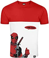 Entertainment Collectibles Official Merchandise Marvel Deadpool Loves Tacos Red and White Men's T Shirt (XL)