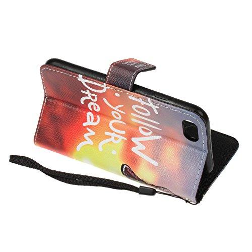 iPhone 7 Hülle,iPhone 7 case vintage ledertasche, Handy Schutzhülle für Apple iphone 7(4.7 Zoll) Hülle Leder Wallet Tasche Flip Brieftasche Etui Schale (+Staubstecker) (8) 7