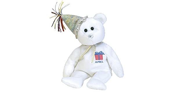 TY April Birthday Bear with Hat Beanie Baby  Amazon.co.uk  Toys   Games c05068845567