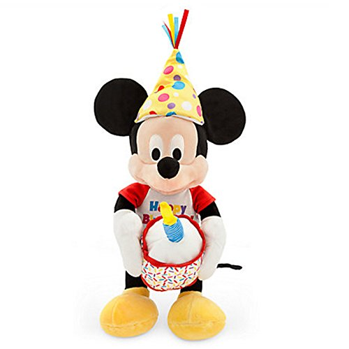 Offizielle Disney Micky Maus 28cm Happy Birthday Musical Stofftier mit Lichtern (Mickey-mouse-lichter)