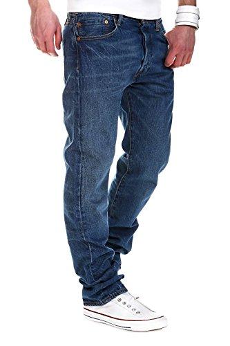 Levi's Herren Jeans 501 Original Fit Blau (ending 2123)