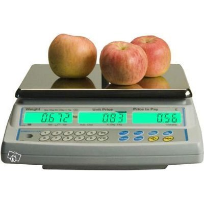 Balance poids-prix ohne Ticket 15kg x 5g–Balance für Handel oder Markt mit Zulassung (Bild Grüne von 2Jahren) - 4