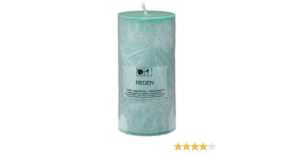 Duftnote S/ÜSSE ERBSE UND MINZE Marmorierte Natur Kerze 7,5 x 15 cm aus Pflanzenwachs ungebleichter Docht