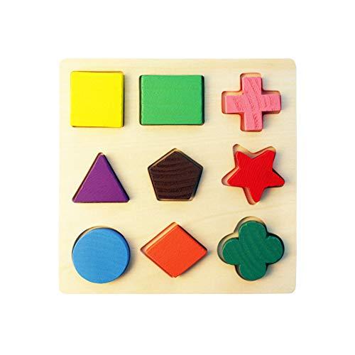 TrifyCore Holz Puzzles Geometrische Sortierung Spiele frühe Entwicklung Lernspielzeug Vorschule Form für Kleinkinder Jungen Mädchen 178 1pc - Holz-puzzle Kreis