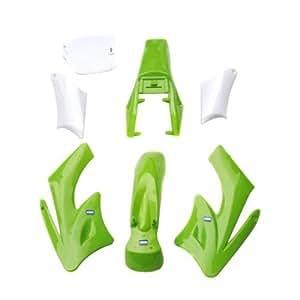 HMParts, set di rivestimento per Mini Cross KDX Orion a 2 tempi, colore verde