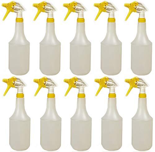 10 Stück 360 grad Sprühflasche - leer - 1 Liter Volumen mit überkopf Sprühkopf (10)