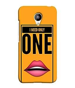 Fuson Designer Back Case Cover for Meizu M3 (Glossy Lips Love Affection Kiss )
