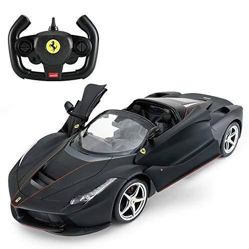 Ycco Ferngesteuerte Autos für Kinder Öffnen der Türen Lichter 1/14 Ferrari Special Ein rotes Spielzeugauto Cabrio Auto Öffnen/Schließen Offiziell lizenzierte 2WD Driften Elektrische Funkfernsteuerun