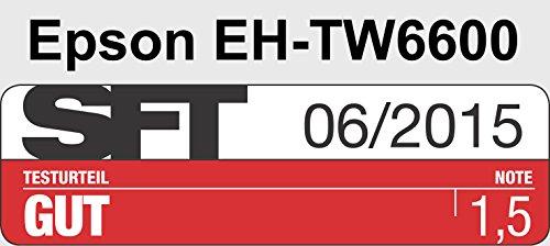 Bild 69: Epson EH-TW6100 3D Heimkino 3LCD-Projektor (Full HD 1080p, 2.300 Lumen Weiß & Farbhelligkeit, 40.000:1 Kontrast, 2x HDMI (1x MHL), inkl. 1x 3D Brille) schwarz