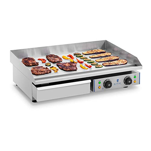 Royal Catering Plancha Grill Electrica Fry Top Parrilla Electrica Industrial RCEG-75 2 x 2.200 W, Largo...